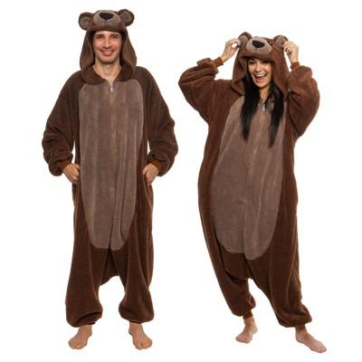 FUNZIEZ! Sherpa Bear Adult Unisex Novelty Union Suit