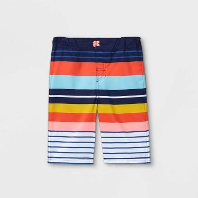 Boys' Adaptive Striped Swim Trunks - Cat & Jack™