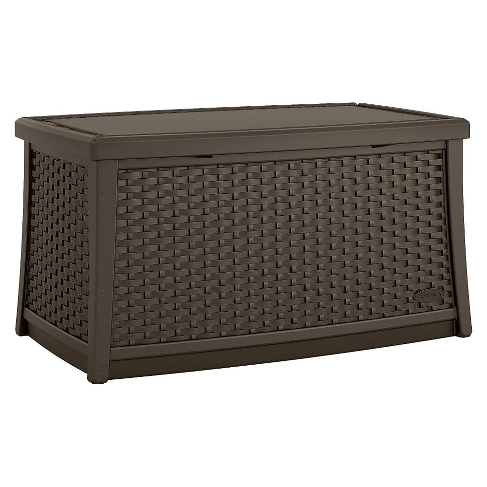 Suncast Elements Resin Patio Storage Coffee Table - Java