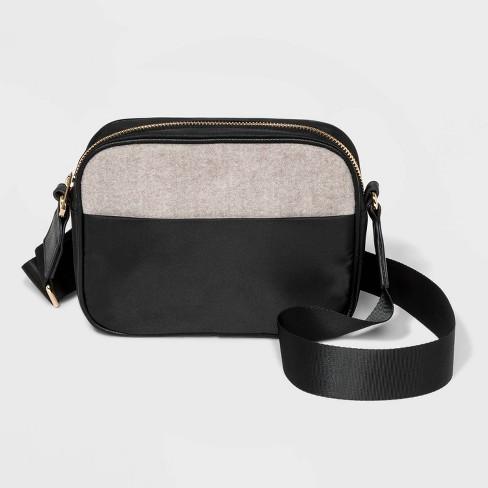 40bdb94cb5 Zip Closure Crossbody Bag - A New Day™ Black : Target