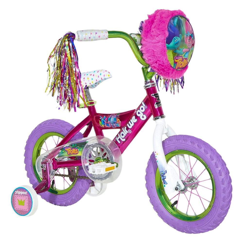 Trolls 12 Kids' Bike with Training Wheels - Pink/Purple