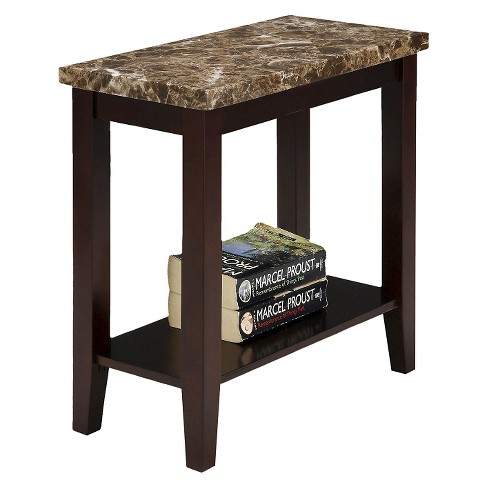 Side Table Traditional Marble Pattern Brown - Ore International - image 1 of 1