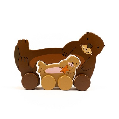 Big and Little Sea Otter Push and Pull Toys