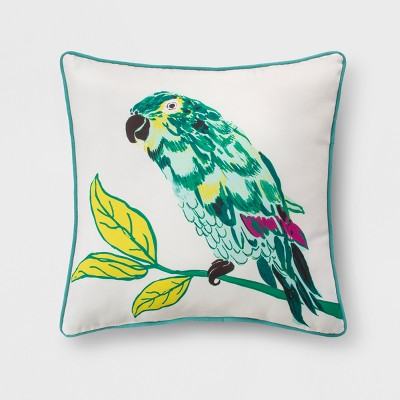 Outdoor Throw Pillow - Green & Yellow Parrot - Opalhouse™