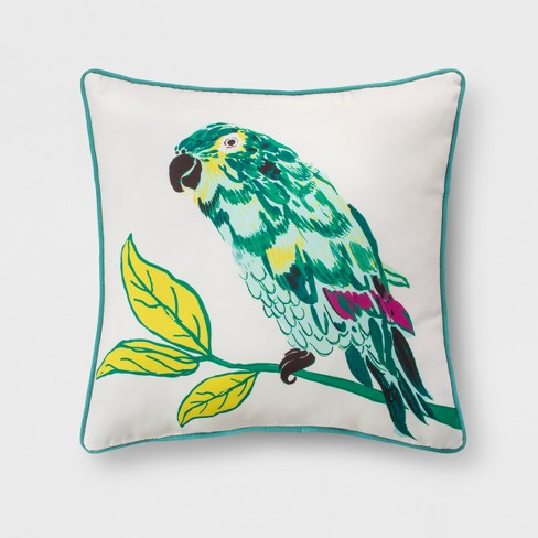 outdoor throw pillow green yellow parrot opalhouse target