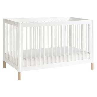 Babyletto Gelato 4-in-1 Convertible Crib with Toddler Bed Conversion Kit - White