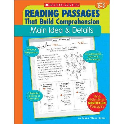 Main Idea & Details - (Reading Passages That Build Comprehension) by  Linda Ward Beech (Paperback)