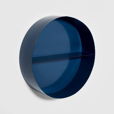 Metal Round Shelf Navy - Pillowfort™