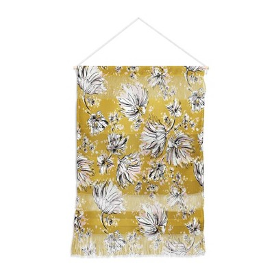 """22"""" x 31.5"""" Large Pattern State Floral Meadow Fiber Wall Hanging - Deny Designs"""