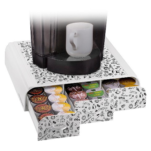 Mind Reader Anchor Coffee Pod Triple Drawer - White Print - image 1 of 3