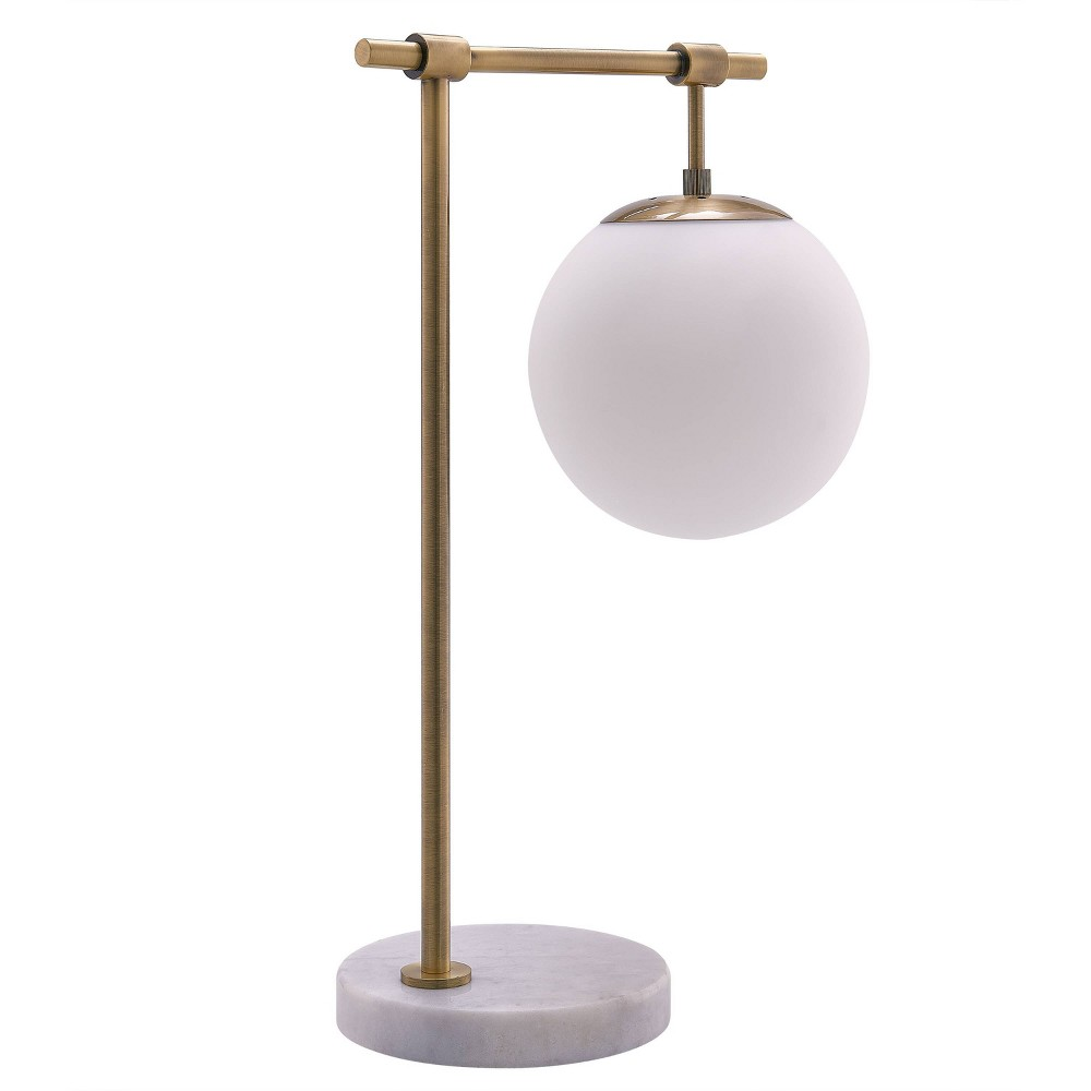 Lyntra Stone and Metal Table Lamp White (Includes Energy Efficient Light Bulb) - Aiden Lane
