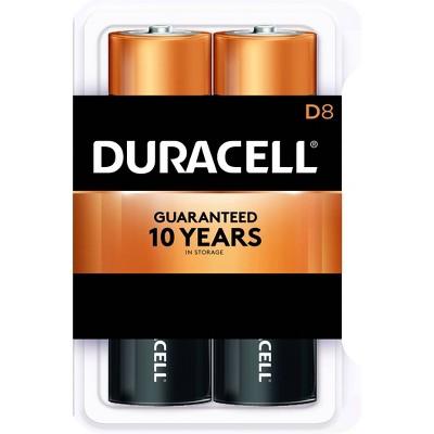 Duracell Coppertop D Batteries - 8 Pack Alkaline Battery