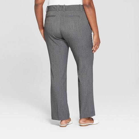 858df958fa7 Women s Plus Size Trouser Pants With Comfort Waistband - Ava   Viv™ Gray 18W    Target