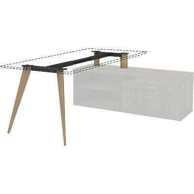 """Lorell Wood Frame Adjustable f/30"""" L-shape Desk 60-72""""Wx30""""D NL 16224"""