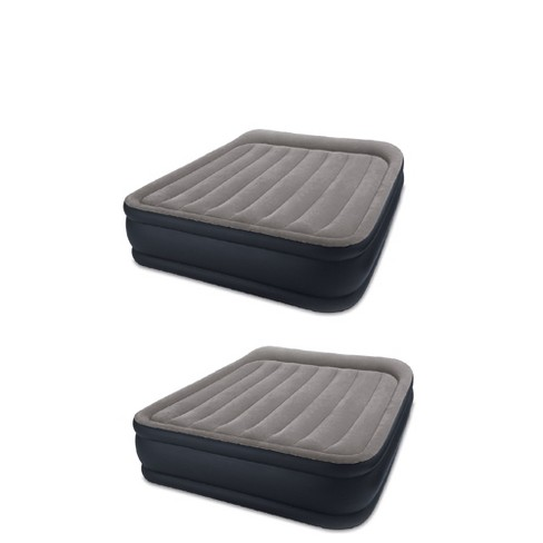 Intex Deluxe Raised Blow Up Air Bed Mattress With Built In Pump Queen 2 Pack Target