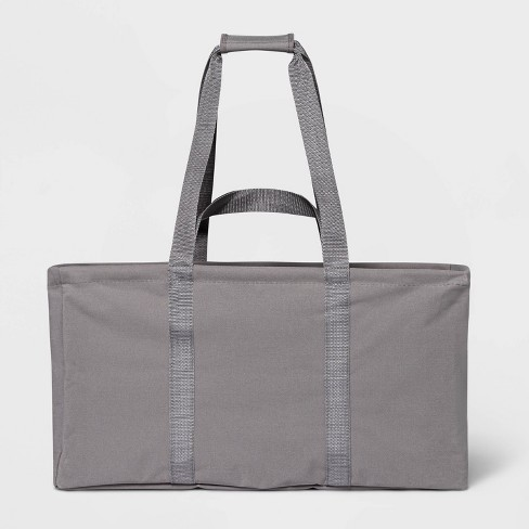 Soft Sided Scrunchable Laundry Basket Spaceship Gray - Room Essentials™ - image 1 of 4