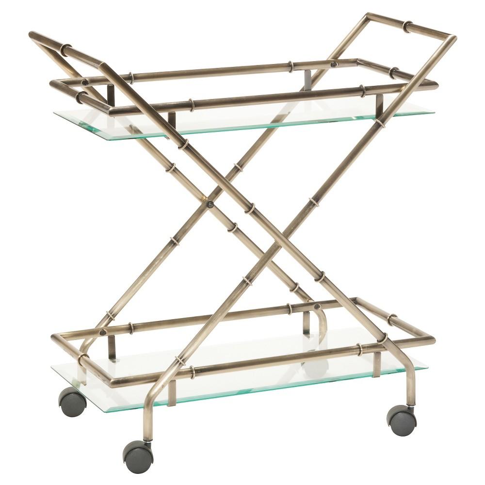 Lanai Serving Cart - Antique Brass - Osp Designs