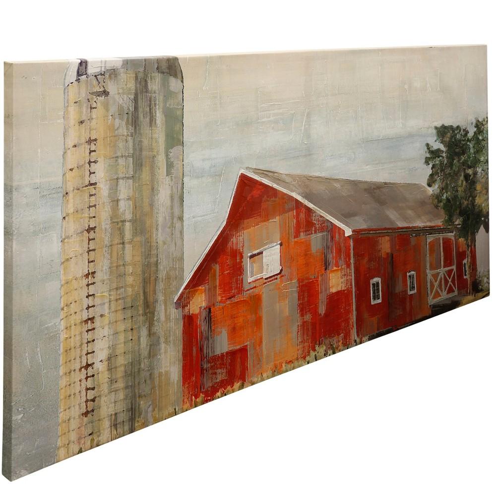 72 Barnside Silo Canvas Decorative Wall Art - StyleCraft, Multi-Colored
