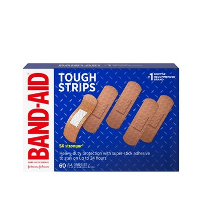 BAND-AID Tough Strips Heavy Duty Super Stick Adhesive Bandages - 60ct