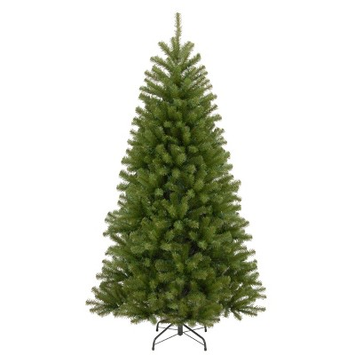 7.5ft National Christmas Tree Company North Valley Spruce Hinged Full Artificial Christmas Tree