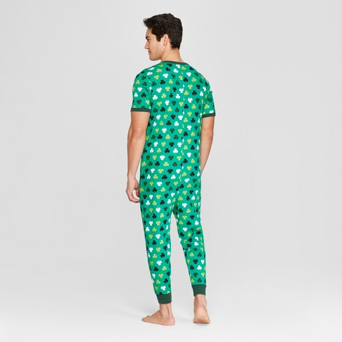 4ca573a68b9 Snooze Button Men s St. Patrick s Day Clover Print Family Union Suit - Green
