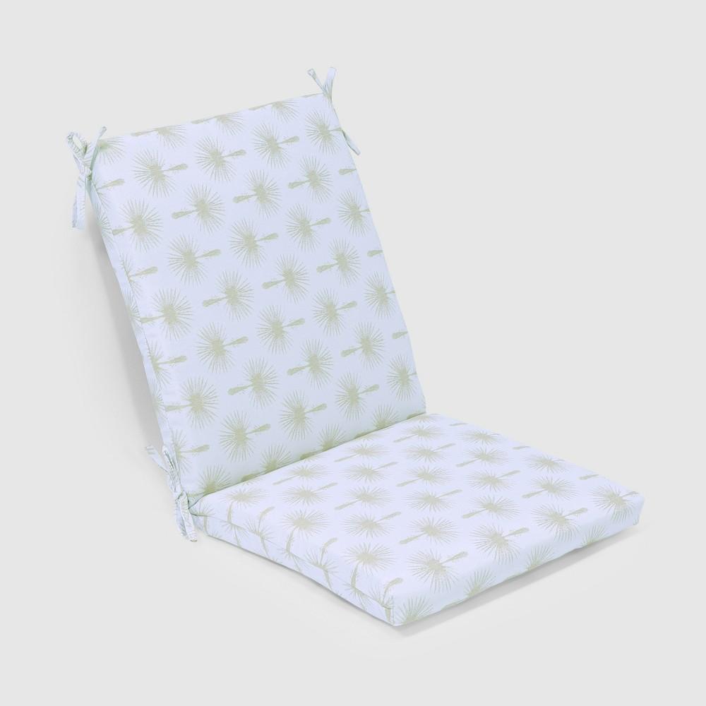 Palm Print Outdoor Chair Cushion - Threshold, White