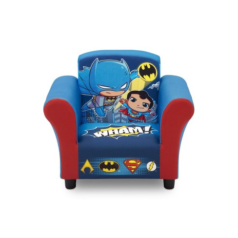 Pleasant Delta Children Dc Super Friends Kids Superhero Upholstered Lounge Chair Armchair Inzonedesignstudio Interior Chair Design Inzonedesignstudiocom