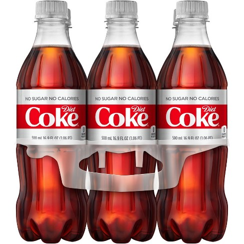 Diet Coke - 6pk/16.9 fl oz Bottles - image 1 of 4