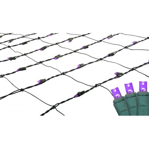 Northlight 4' x 6' LED Wide Angle Net Lights Purple - Green Wire - image 1 of 3