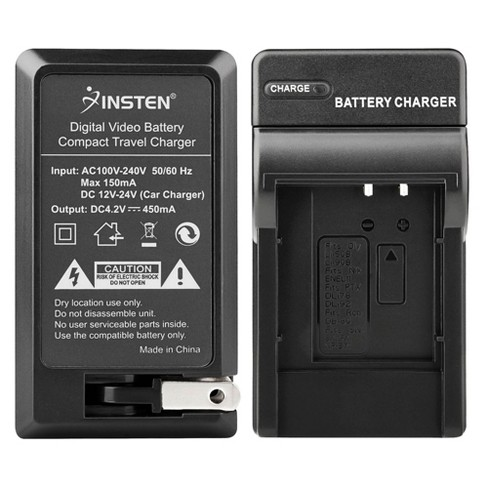 INSTEN Compact Battery Charger Set compatible with Olympus Li-50B - image 1 of 4