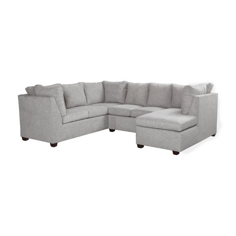 2pc Medford Sectional Sofa With Chaise Gray Threshold