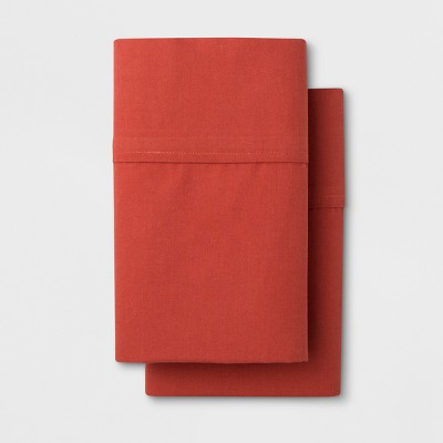 Solid Easy Care Pillowcase Set (Standard)Red Orange - Made By Design™