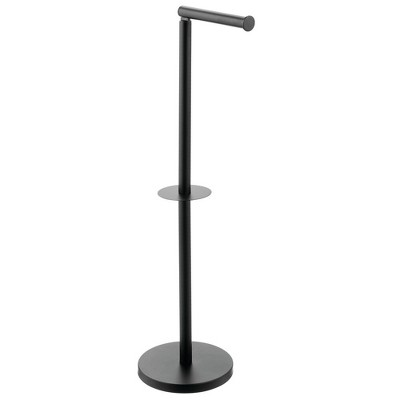 mDesign Toilet Paper Roll Holder Stand/Dispenser - Brushed Stainless - Bronze