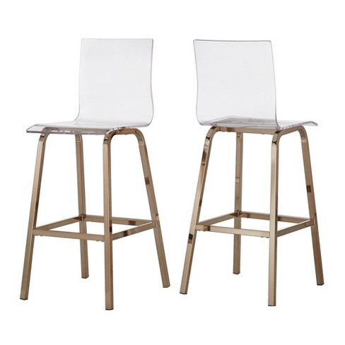 29 Alta Modern Barstools Set Of Two Gold Inspire Q