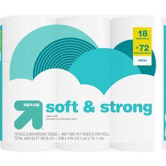 Soft & Strong Septic Safe Toilet Paper - 18 Mega Rolls - Up&Up™