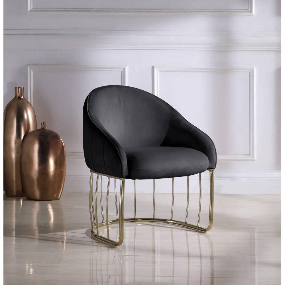 Vivienne Accent Chair Black Chic Home Design