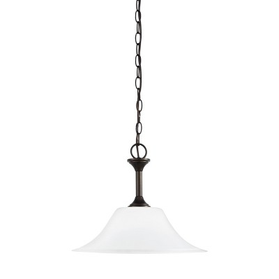 "Sea Gull Lighting Holman 1-Light 15"" Pendant Heirloom Bronze 65806-782"