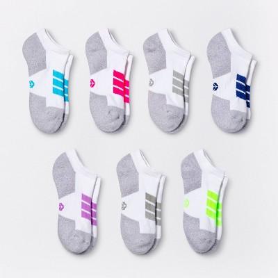 Women's Cushioned Chevron Stripe 6+1 Bonus Pack No Show Athletic Socks - All in Motion™ 4-10