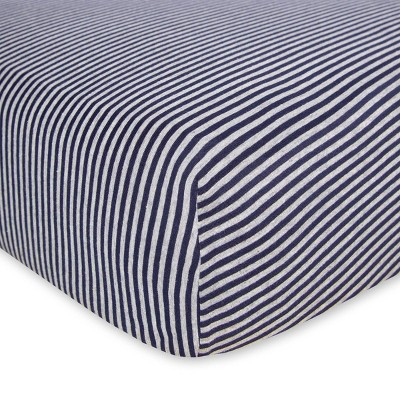 Burt's Bees Baby® Organic Fitted Crib Sheet - Bee Essentials - Blueberry