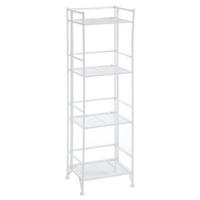 """45"""" 4 Tier Folding Metal Shelf White - Breighton Home"""