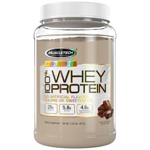 MuscleTech Pure Series Protein Powder - Chocolate - 2lb - image 1 of 3