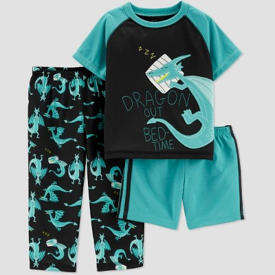 Baby Boys' 3pc Dragon Pajama Set - Just One You® made by carter's Teal 18M