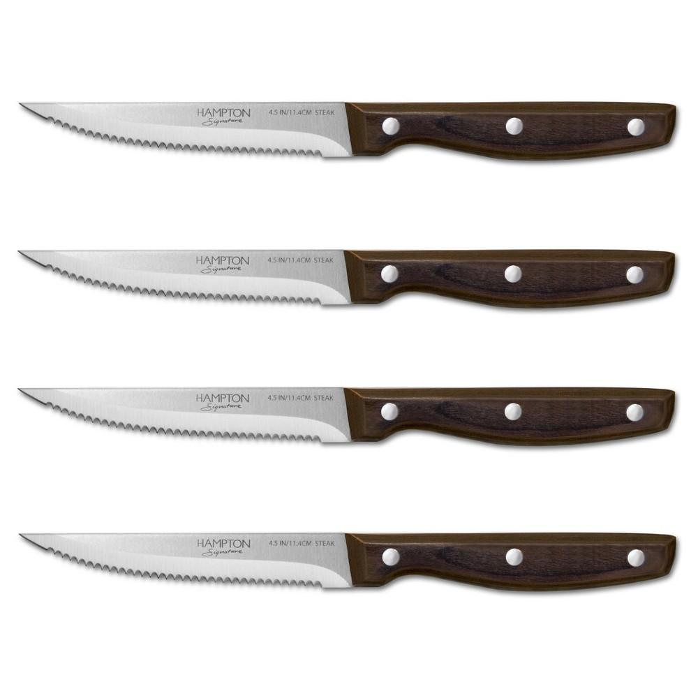 Image of Hampton Forge Steak Knife Set, Gray Black