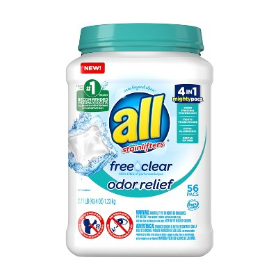 Laundry Detergent: All Free Clear Odor Relief