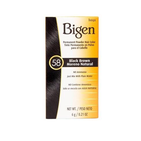 Bigen Permanent Powder Hair Color - 58 Black Brown - 0.21oz - image 1 of 4