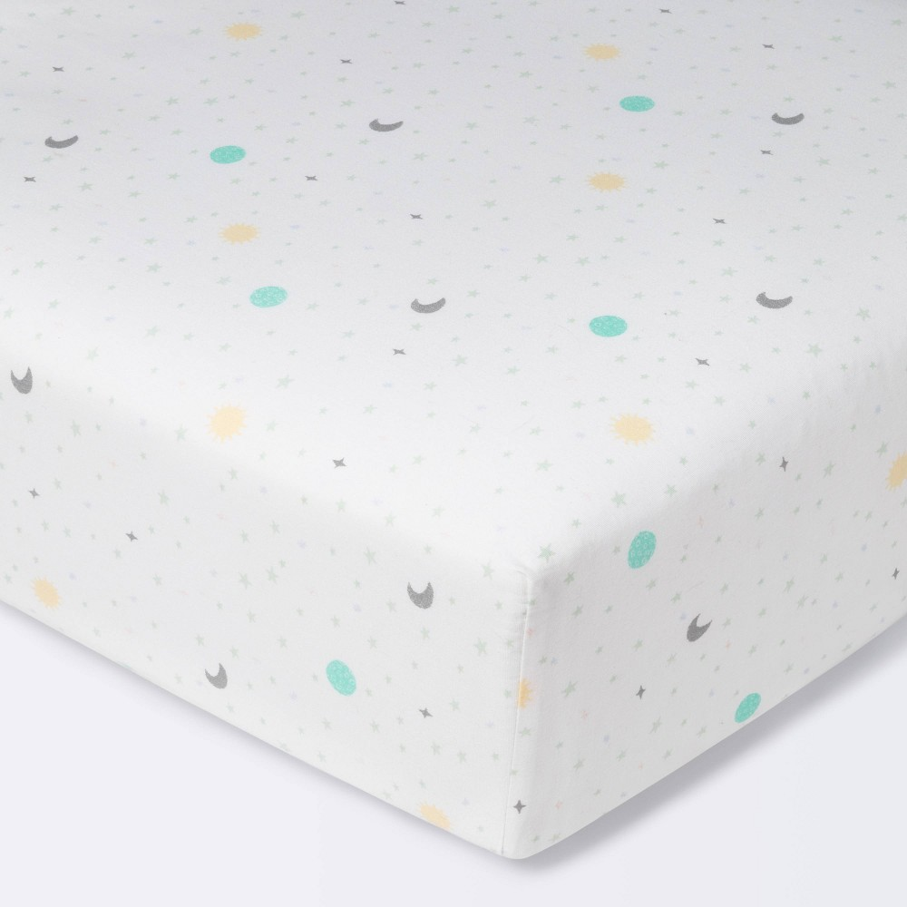 Fitted Crib Sheet Space Cloud Island 8482