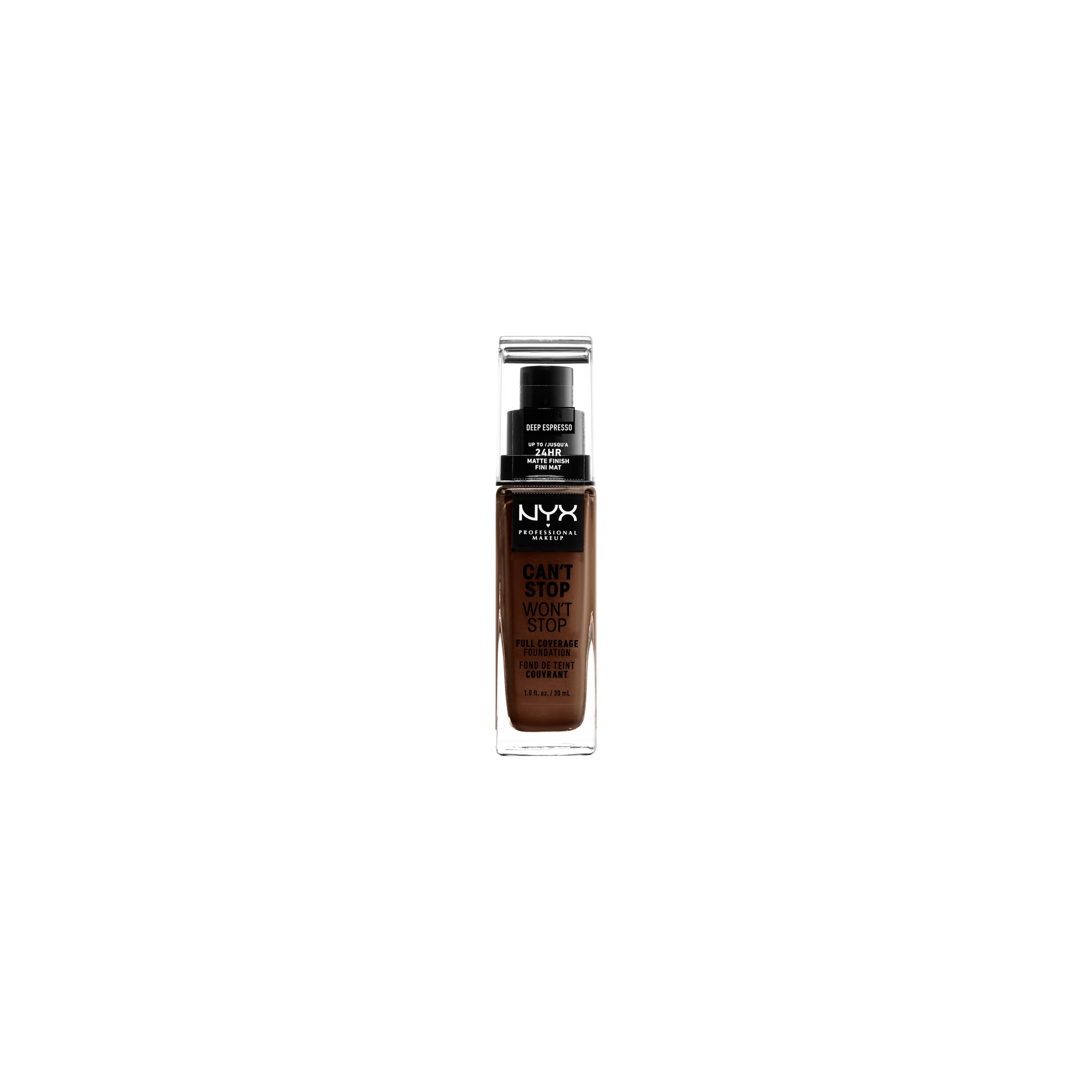 Nyx Professional Makeup Can't Stop Won't Stop Full Coverage Foundation Deep Espresso - 1.3 fl oz