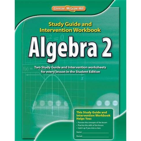 Algebra 2, Study Guide & Intervention Workbook - (Merrill Algebra 2) (Paperback) - image 1 of 1