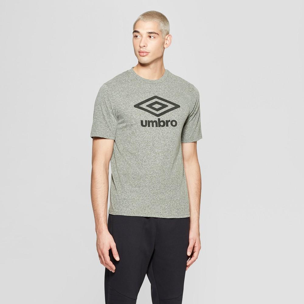 Umbro Men's Logo T-Shirt - Bronze Green L