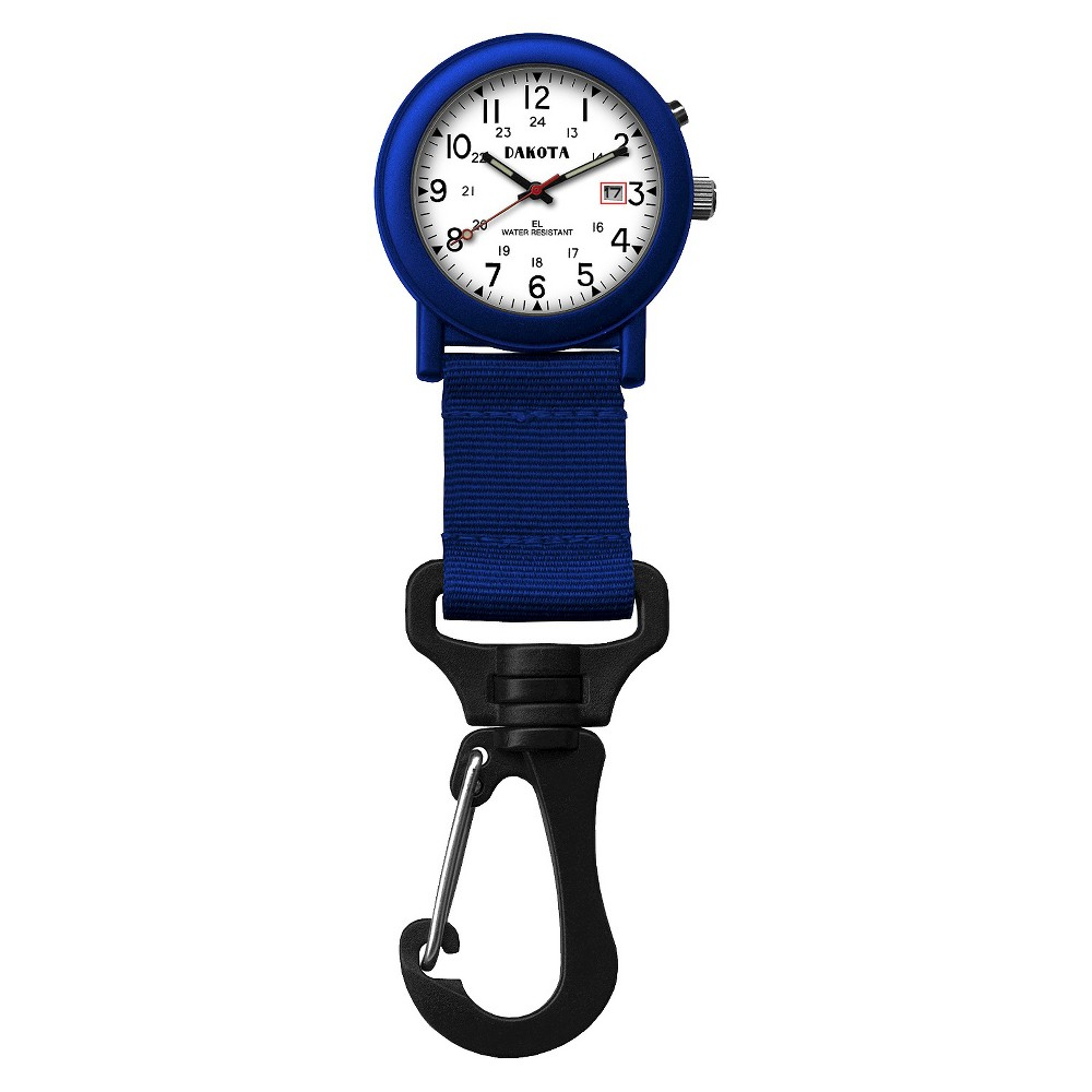 Image of Men's Dakota Light Backpacker Clip Watch - Blue, Size: Small